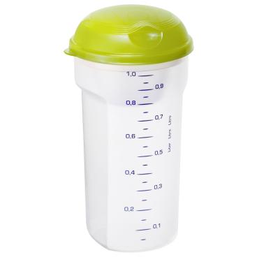 Rotho TAKE & SHAKE Salat/ Saucen Shaker, 1 Liter