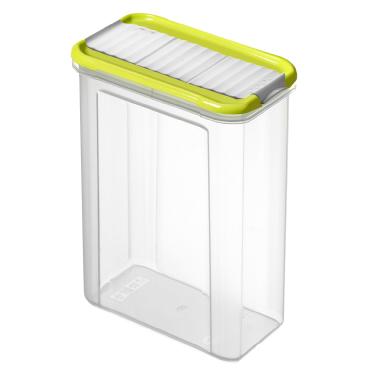 Rotho DOMINO Streudose, transparent/ lime grün