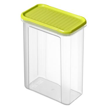 Rotho DOMINO Vorratsdose, transparent / lime grün