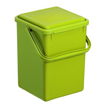 Rotho GREENLINE BIO Komposteimer, Kunststoff, grün
