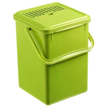 Rotho GREENLINE BIO Komposteimer mit Aktivkohlefilter, grün