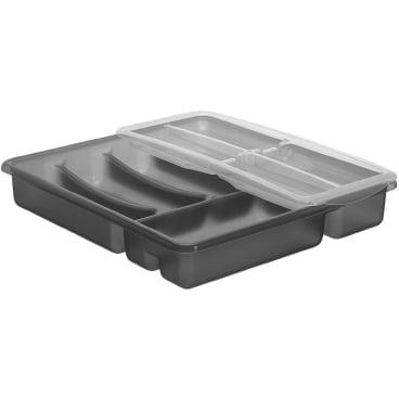 Rotho BASIC Besteckkasten mit Extra-Top-Gleiter