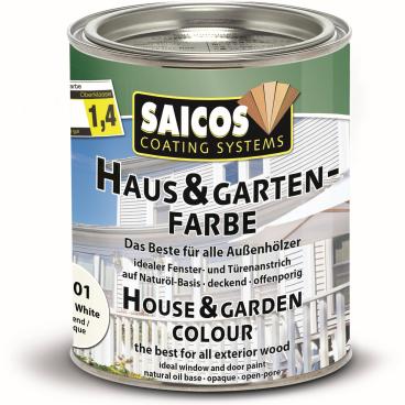 SAICOS Haus- & Gartenfarbe, weiß