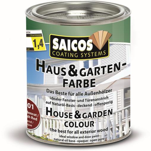 SAICOS Haus- & Gartenfarbe, schwedenrot