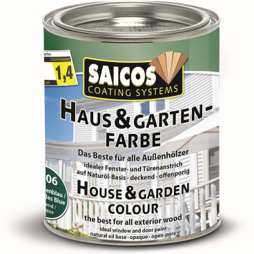 SAICOS Haus- & Gartenfarbe, seycellenblau
