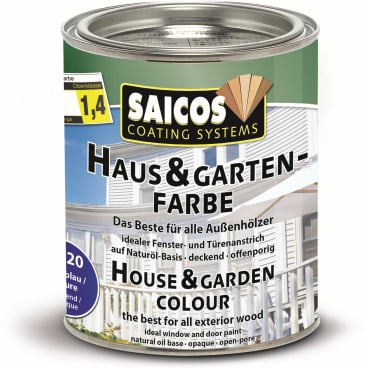 SAICOS Haus- & Gartenfarbe, azurblau