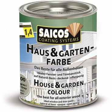 SAICOS Haus- & Gartenfarbe, achatgrau