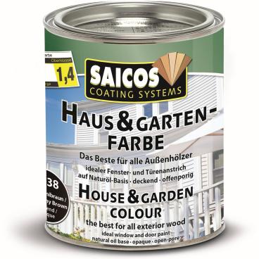 SAICOS Haus- & Gartenfarbe, mahagonibraun