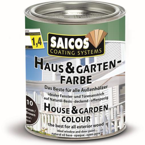 SAICOS Haus- & Gartenfarbe, terrabraun