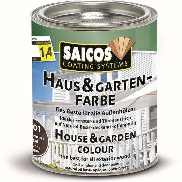 SAICOS Haus- & Gartenfarbe, nussbraun