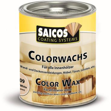 SAICOS Colorwachs, Holzwachs, weiß transparent