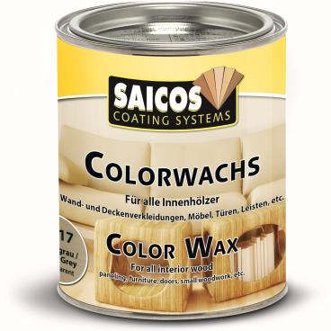 SAICOS Colorwachs, Holzwachs, silbergrau