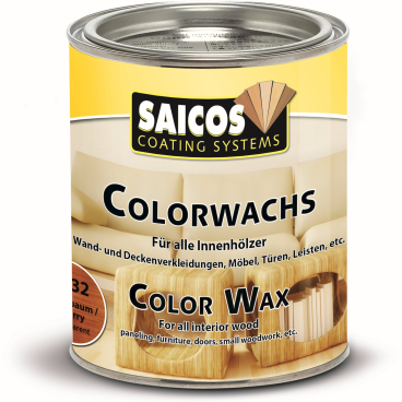 SAICOS Colorwachs, Holzwachs, kirschbaum