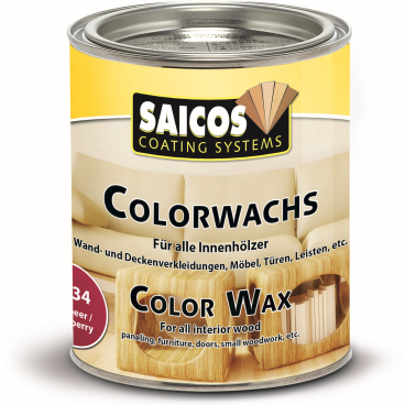 SAICOS Colorwachs, Holzwachs, himbeer