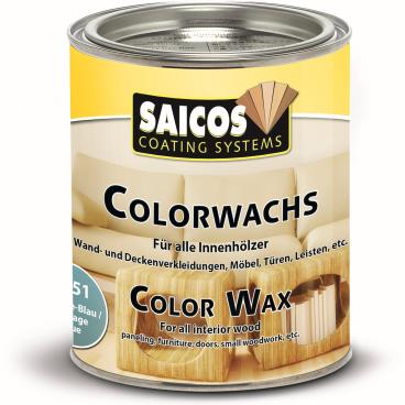 SAICOS Colorwachs, Holzwachs, vintageblau