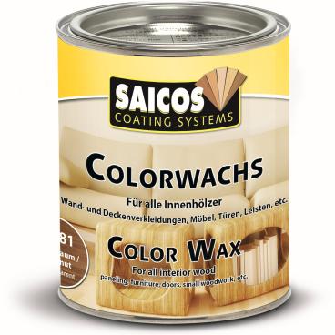 SAICOS Colorwachs, Holzwachs, nussbaum