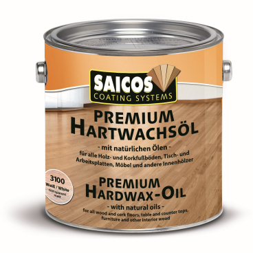 SAICOS Premium Hartwachsöl, weiß