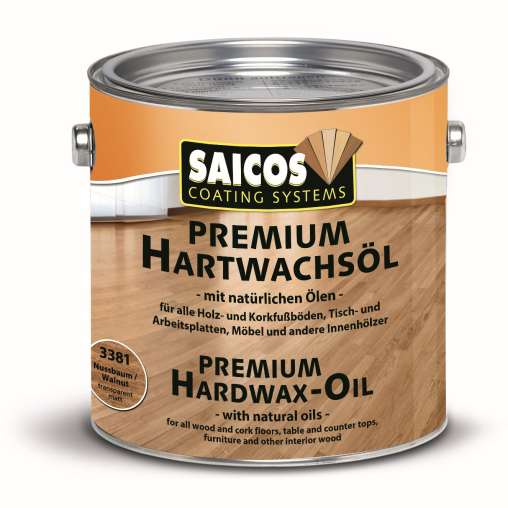 SAICOS Premium Hartwachs-Öl, nußbaum