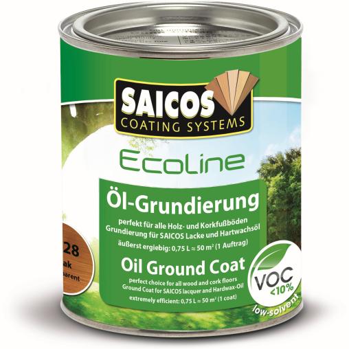 SAICOS Ecoline Öl-Grundierung, teak