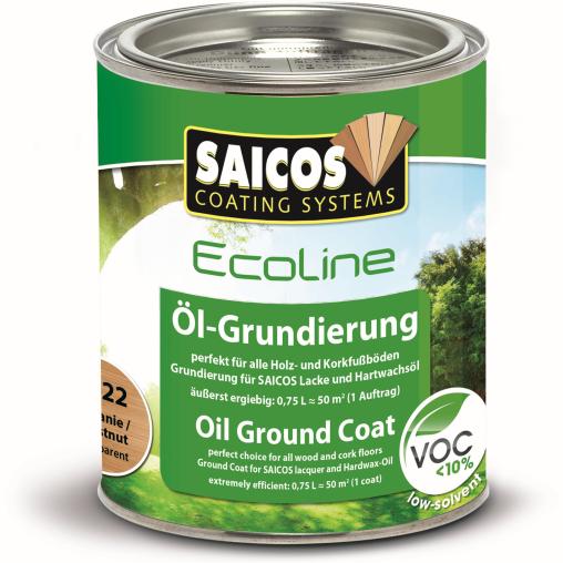 SAICOS Ecoline Öl-Grundierung, kastanie