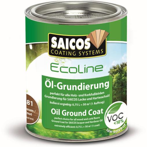 SAICOS Ecoline Öl-Grundierung Duo Top, nußbaum