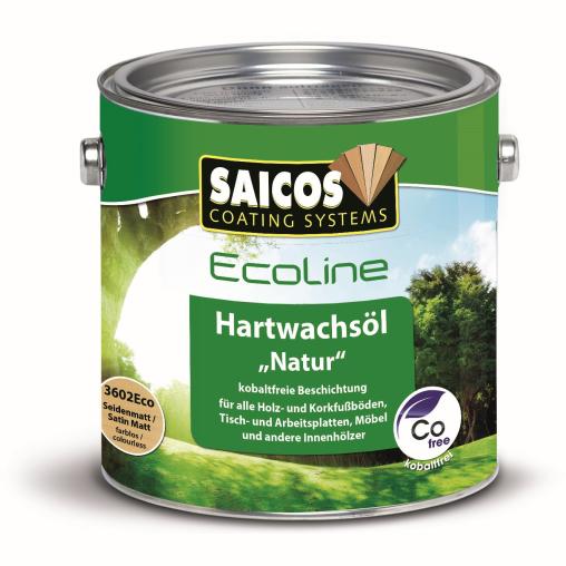 "SAICOS Ecoline Hartwachs-Öl ""Natur"", seidenmatt"