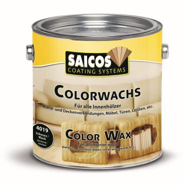 SAICOS Colorwachs, Holzwachs, schwarz deckend