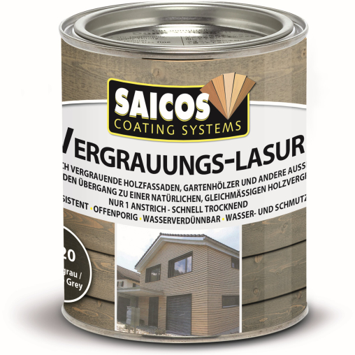SAICOS Vergrauungslasur, graphitgrau