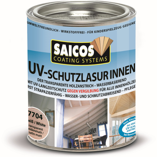 SAICOS UV-Schutzlasur Innen, weiß