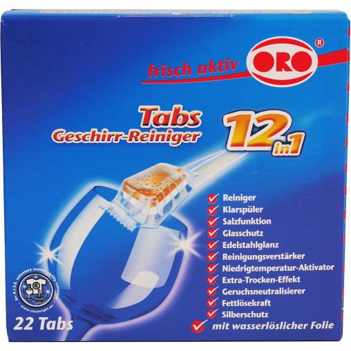 ORO® frisch-aktiv Geschirr-Reiniger Tabs 12 in 1