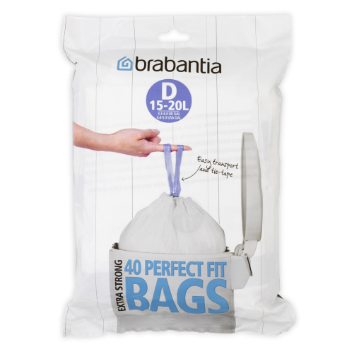 Brabantia PerfectFit Müllbeutel, 15 Liter