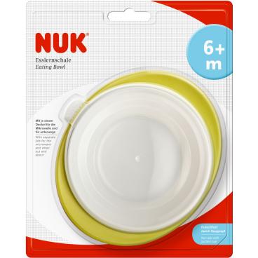NUK Easy Learning Esslernschale mit 2 Deckeln