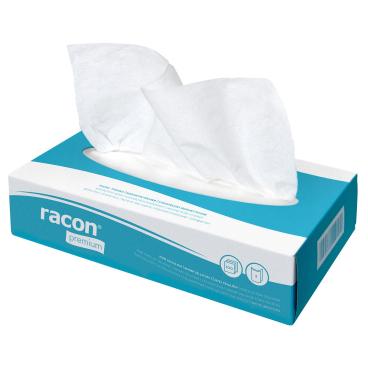 racon® premium Kosmetiktücher, 2-lagig, hochweiß 1 Karton = 40 Boxen à 100 Tüchern