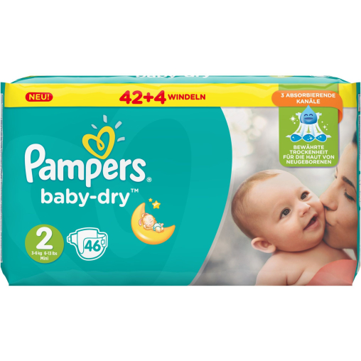Pampers Baby Dry Mini Windeln 3-6 kg, Größe 2