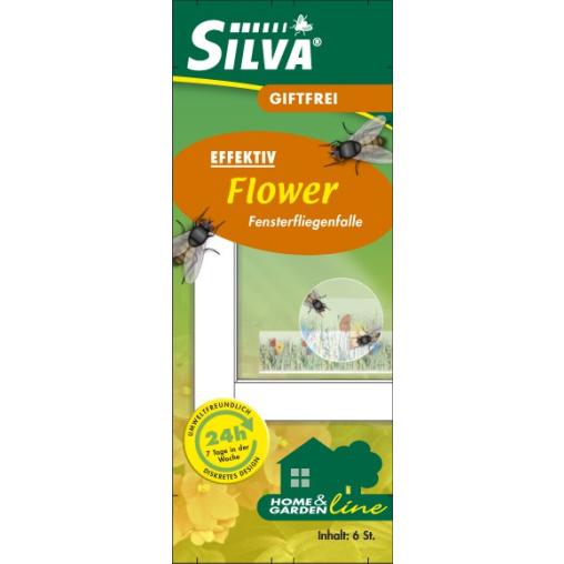 SILVA Fensterfliegenfalle Flower