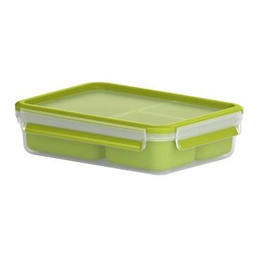 EMSA Clip & Go Snackbox, rechteckig, transparent / grün