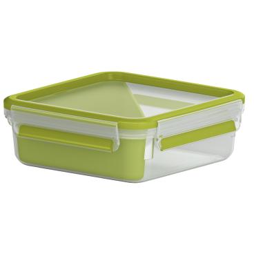 EMSA Clip & Go Sandwichbox, quadratisch, 850 ml