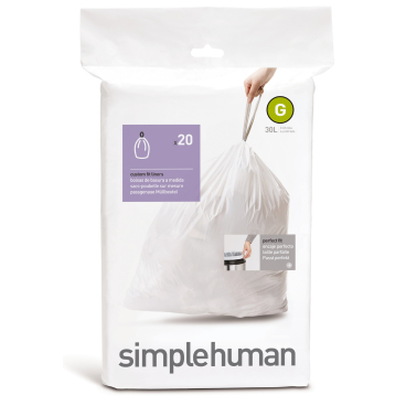 simplehuman passgenaue Müllbeutel, code G, 30 Liter