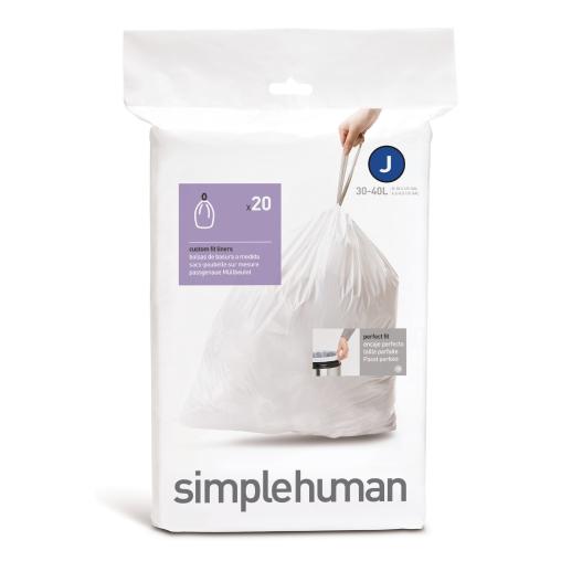 simplehuman passgenaue Müllbeutel, code J, 30-45 Liter