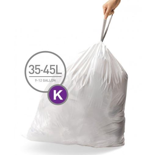simplehuman passgenaue Müllbeutel, code K, 35-45 Liter