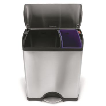 simplehuman Recycler Treteimer, rechteckig, Edelstahl