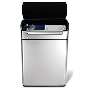 simplehuman Touch-bar Recycler, reckteckig, Edelstahl