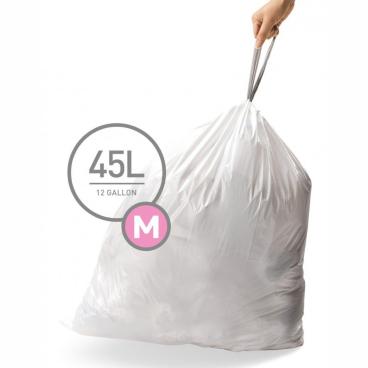 simplehuman passgenaue Müllbeutel, code M, 45 Liter