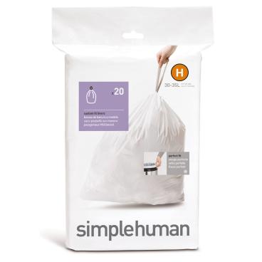 simplehuman passgenaue Müllbeutel, code H, 30-35 Liter