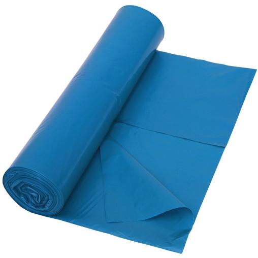 DEISS LDPE Abfallsäcke, blau, 70 Liter