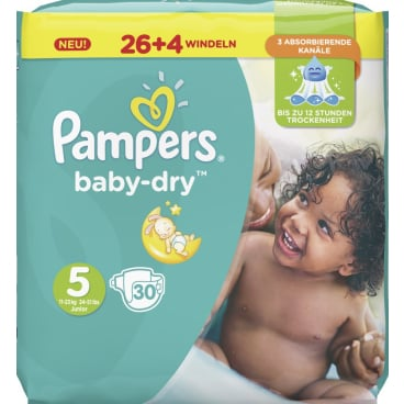 Pampers Baby Dry Junior Windeln 11-23 kg, Größe 5