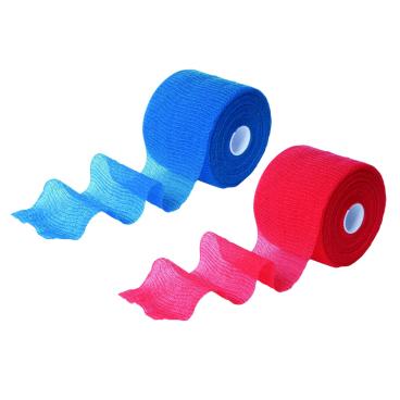 Maielast®- haft krepp color 1 Karton = 12 Boxen, blau, 8 cm x 20 m