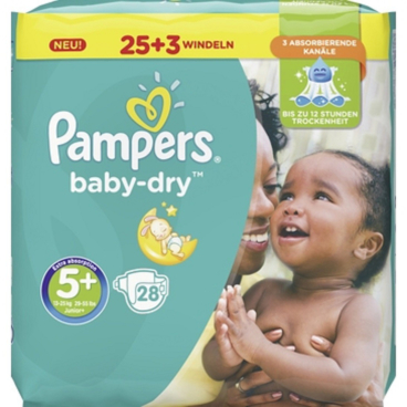 Pampers Baby Dry Junior Plus Windeln 13-25 kg, Größe 5+