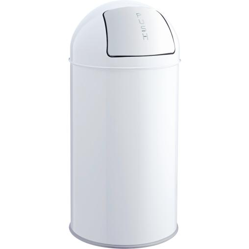 "helit ""the dome"" Metall-Push-Abfallbehälter, 50 Liter"