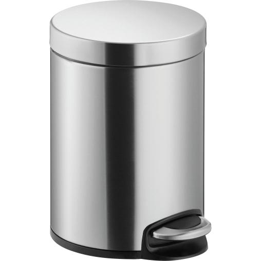 "helit ""the silent"" Edelstahl-Tretabfallbehälter, 5 Liter"
